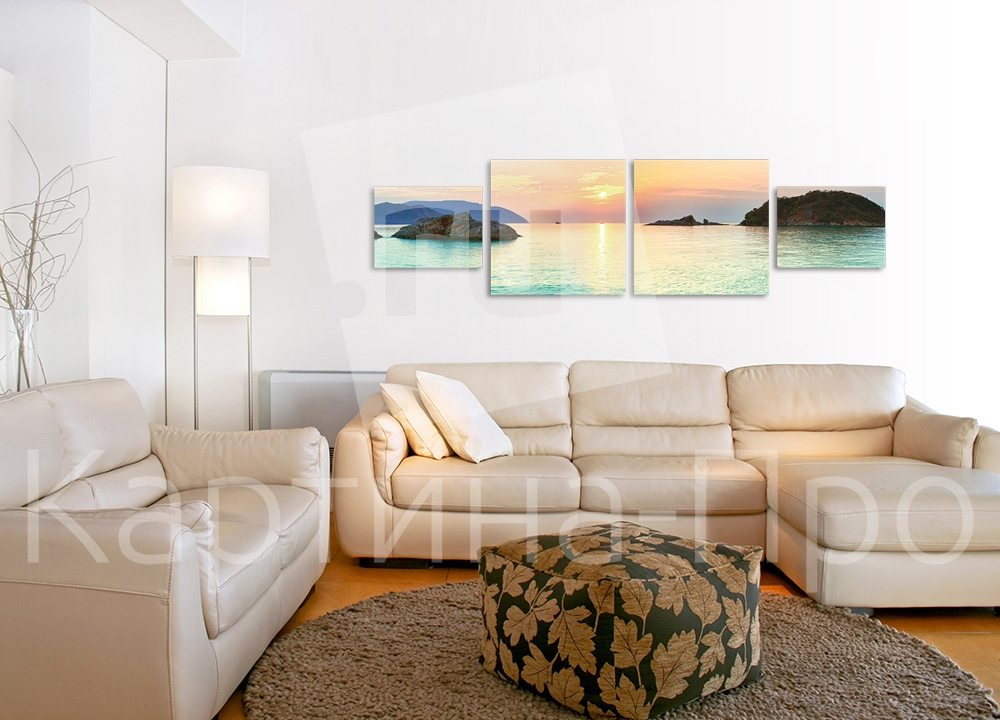 Модульная картина Закат над морем от Kartina-Pro