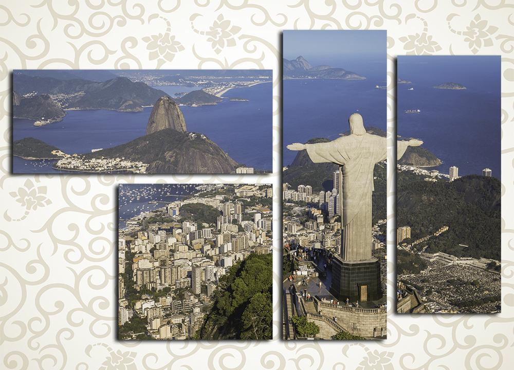 Модульная картина Статуя Христа в Рио (Бразилия) от Kartina-Pro
