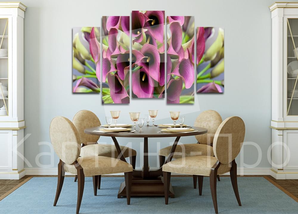 Модульная картина Каллы. Букет от Kartina-Pro