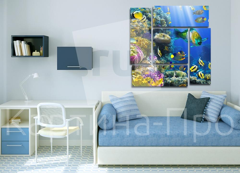 Модульная картина Великолепие подводного мира от Kartina-Pro