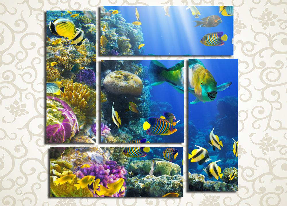 Модульная картина Великолепие подводного мира