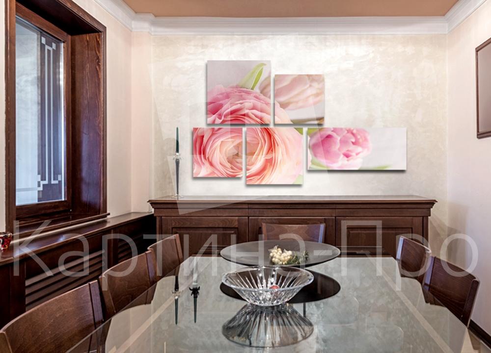 Модульная картина Розовые пионы от Kartina-Pro