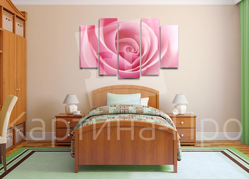 Модульная картина Нежная роза от Kartina-Pro