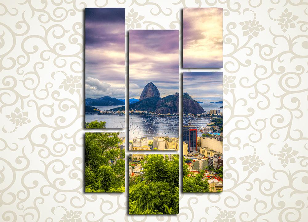 "Модульная картина Гора ""Сахарная голова"" в Рио-де-Жанейро от Kartina-Pro"