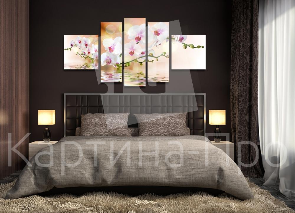 Модульная картина Орхидея в отражении от Kartina-Pro