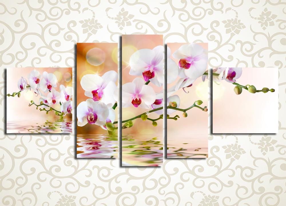 Модульная картина Орхидея в отражении