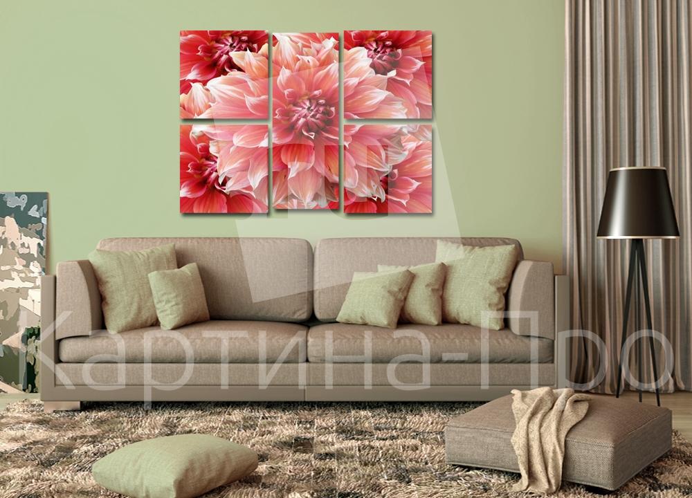 Модульная картина Розовые герберы от Kartina-Pro