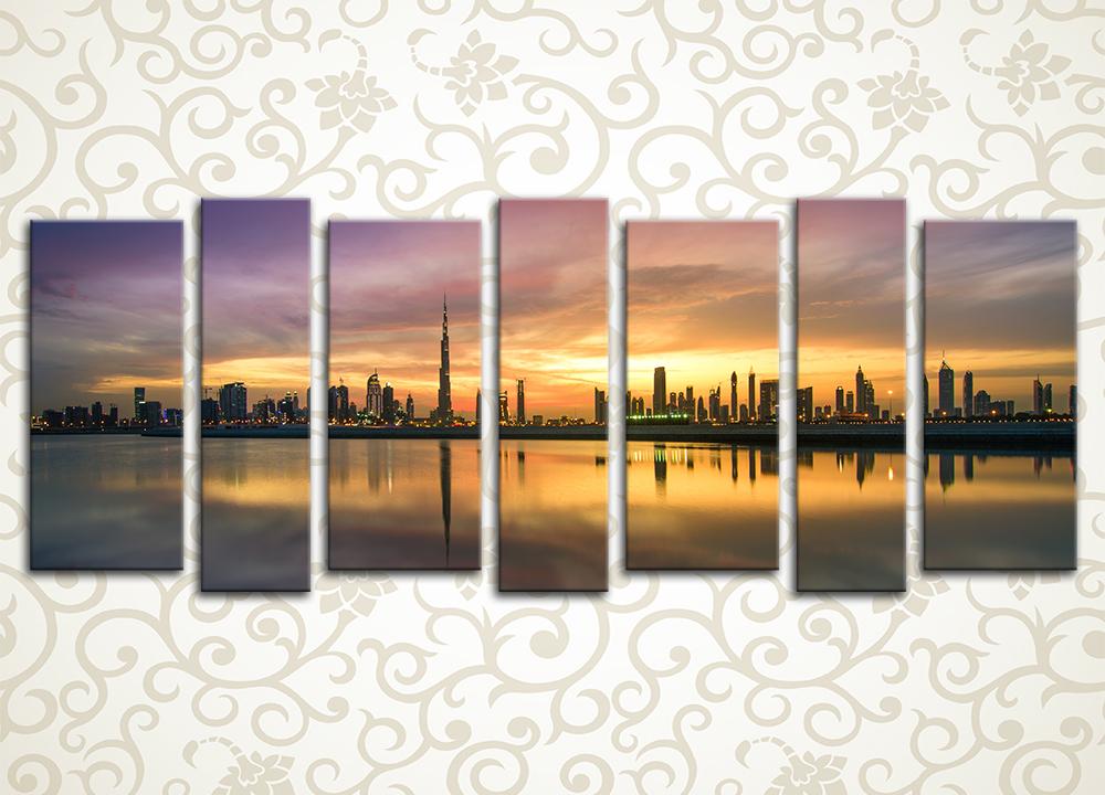 Модульная картина Панорама Дубаи