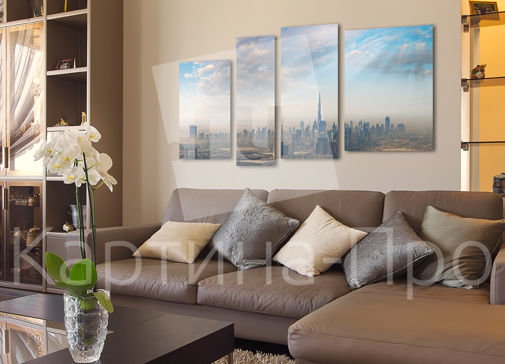 Модульная картина Дубаи в облаках от Kartina-Pro