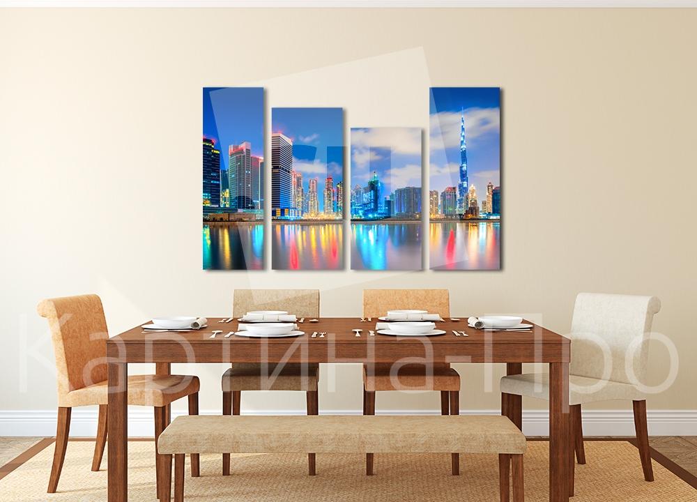 Модульная картина Огни Дубаи от Kartina-Pro