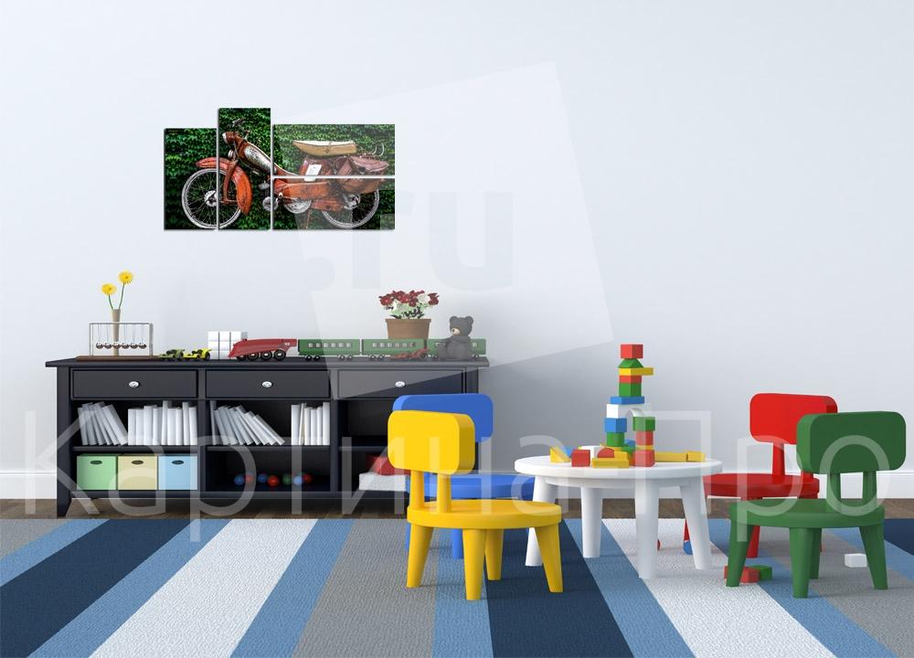 Модульная картина Мопед от Kartina-Pro