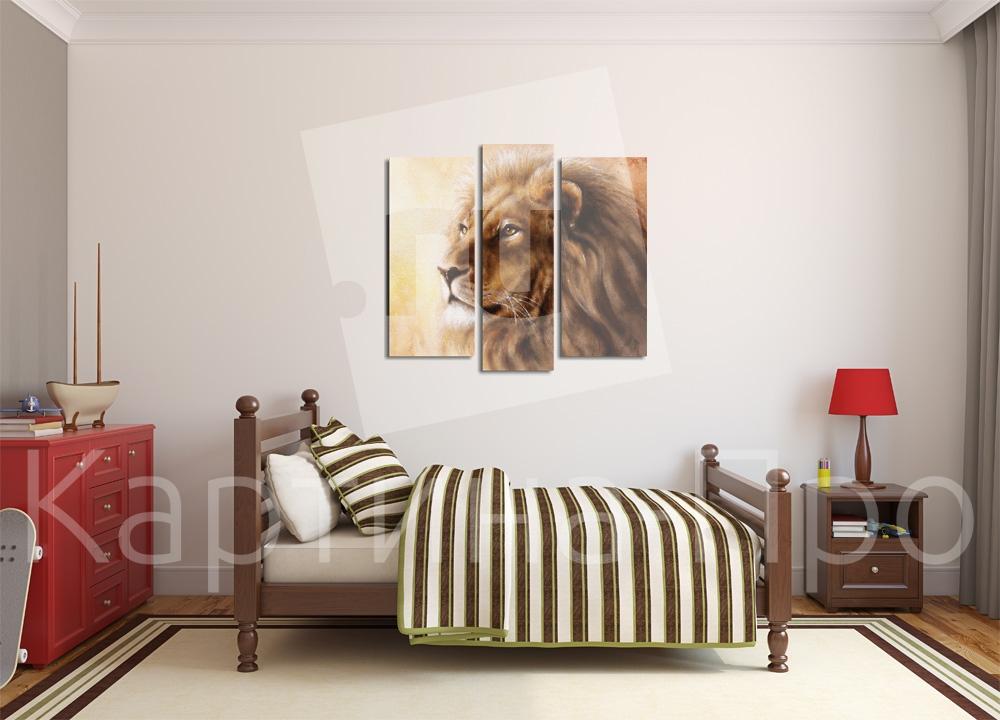 Модульная картина Взгляд  льва от Kartina-Pro