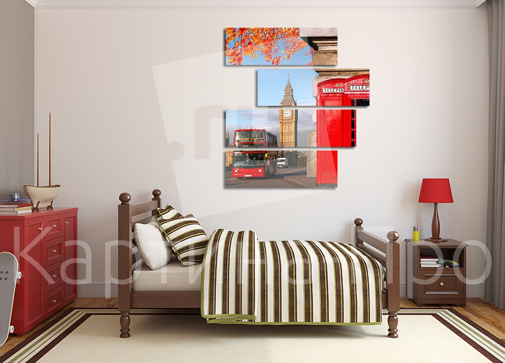 Модульная картина Осень в Лондоне от Kartina-Pro