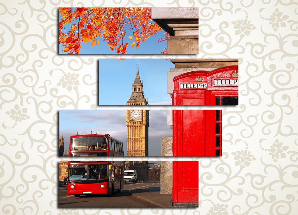 Модульная картина Осень в Лондоне