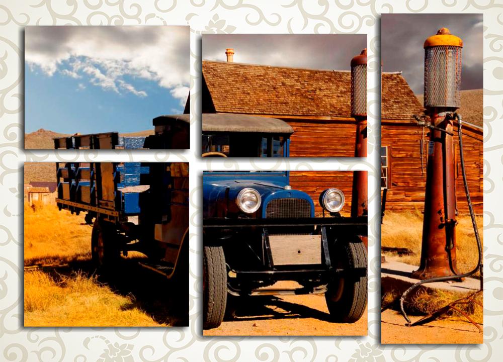 Модульная картина Старый грузовичок