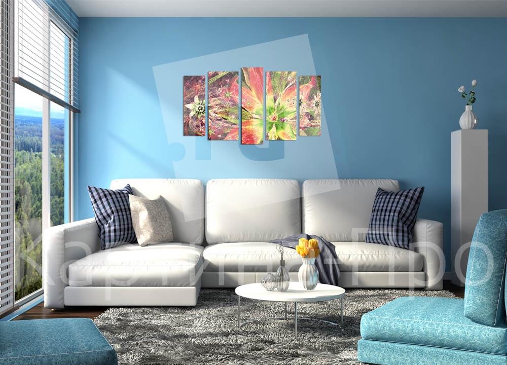 Модульная картина 3D цветок от Kartina-Pro