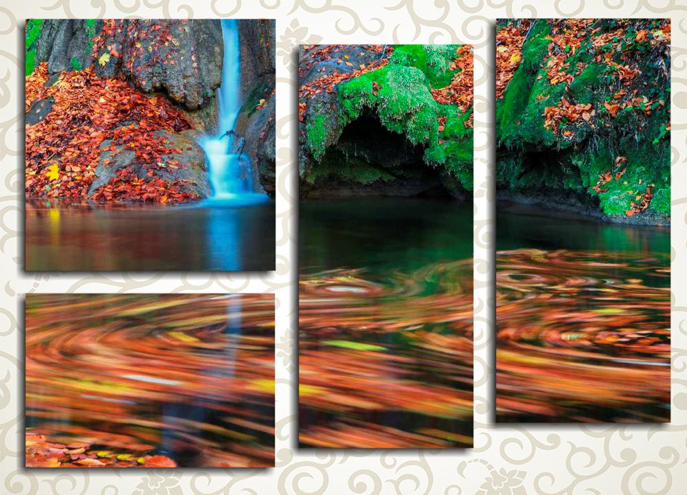 Модульная картина Алый водопад