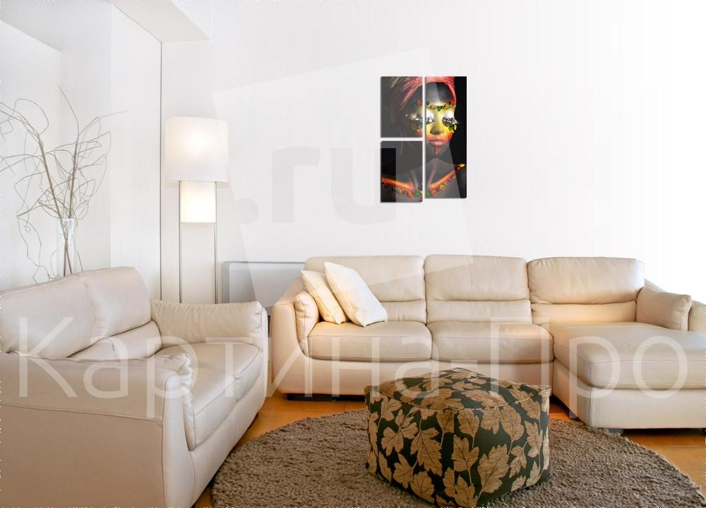 Модульная картина Африканка от Kartina-Pro