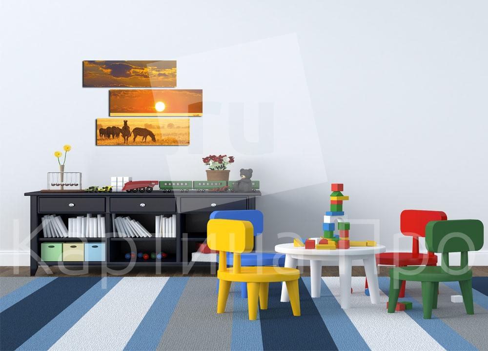 Модульная картина Африканский закат от Kartina-Pro