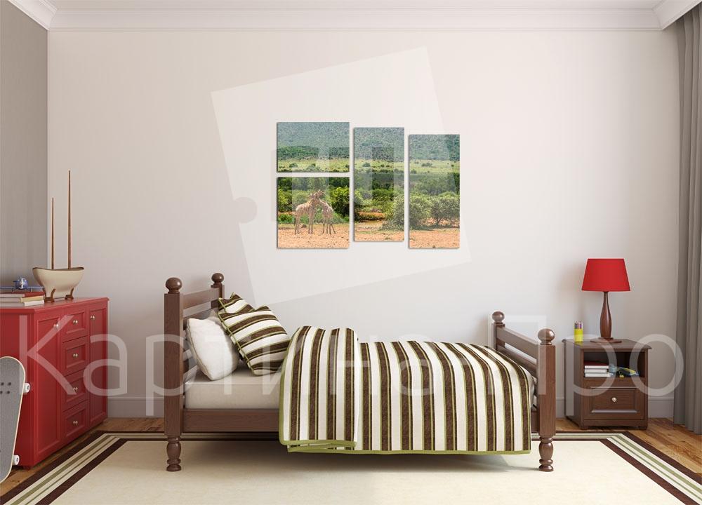 Модульная картина Африканский пейзаж от Kartina-Pro