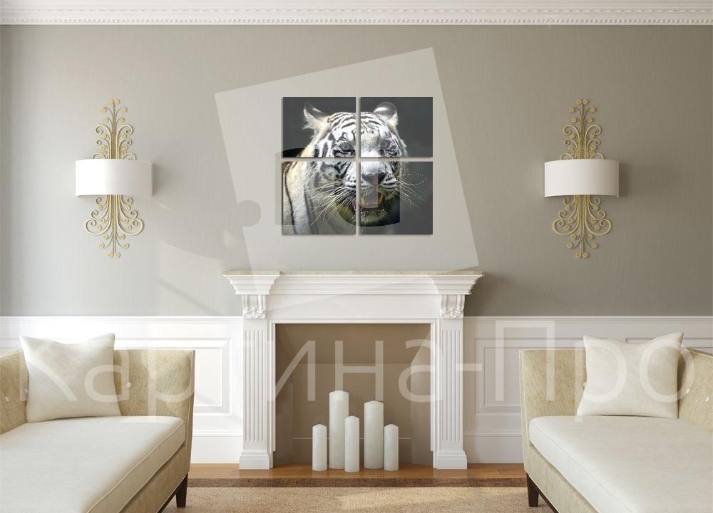 Модульная картина Яростный тигр от Kartina-Pro