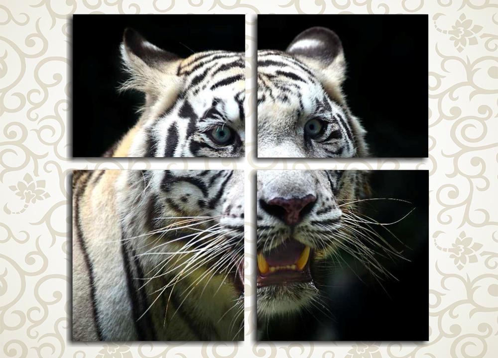 Модульная картина Яростный тигр