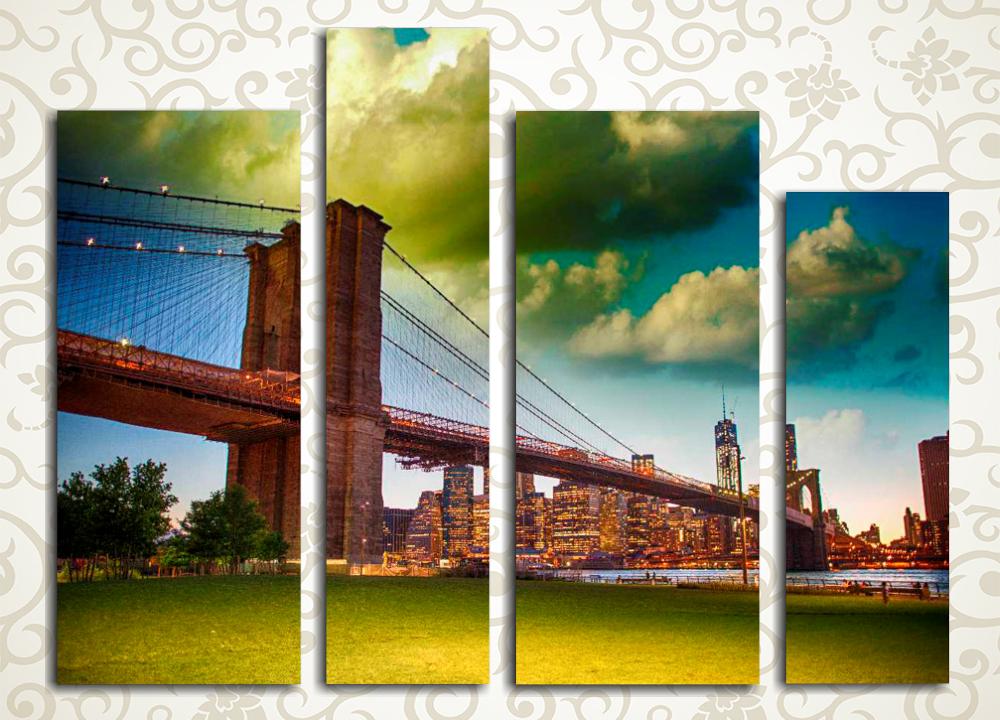 Модульная картина Бруклинский мост, Нью-Йорк