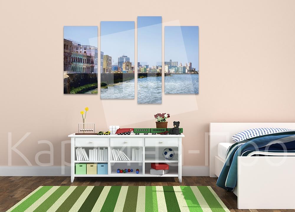 Модульная картина Дома вдоль набережной от Kartina-Pro