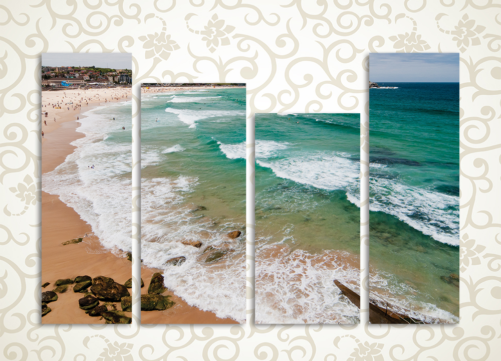 Модульная картина Пляж и волны