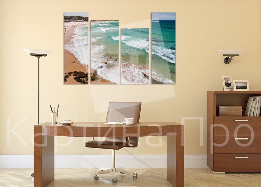 Модульная картина Пляж и волны от Kartina-Pro