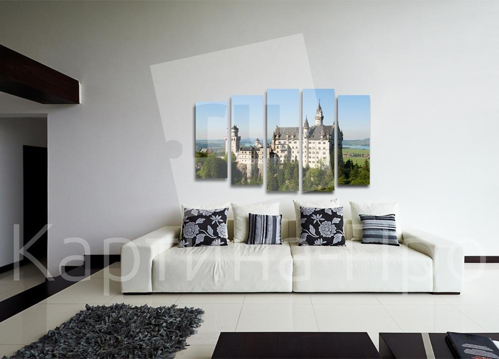 Модульная картина Замок Нойшвайштайн в Германии от Kartina-Pro