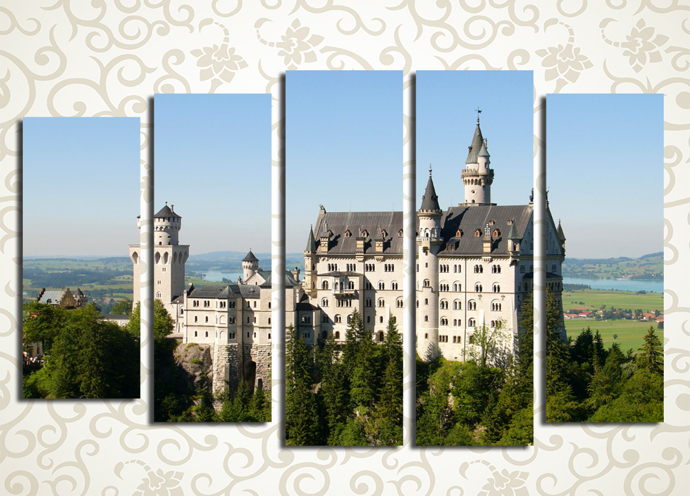 Модульная картина Замок Нойшвайштайн в Германии