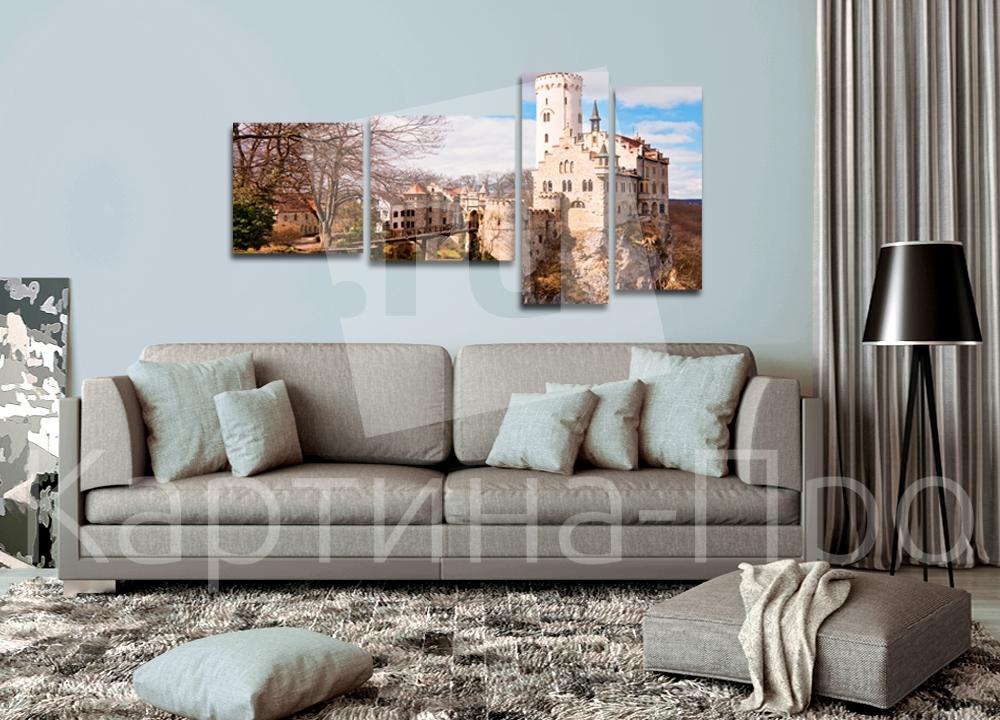 Модульная картина Дорога к замку от Kartina-Pro