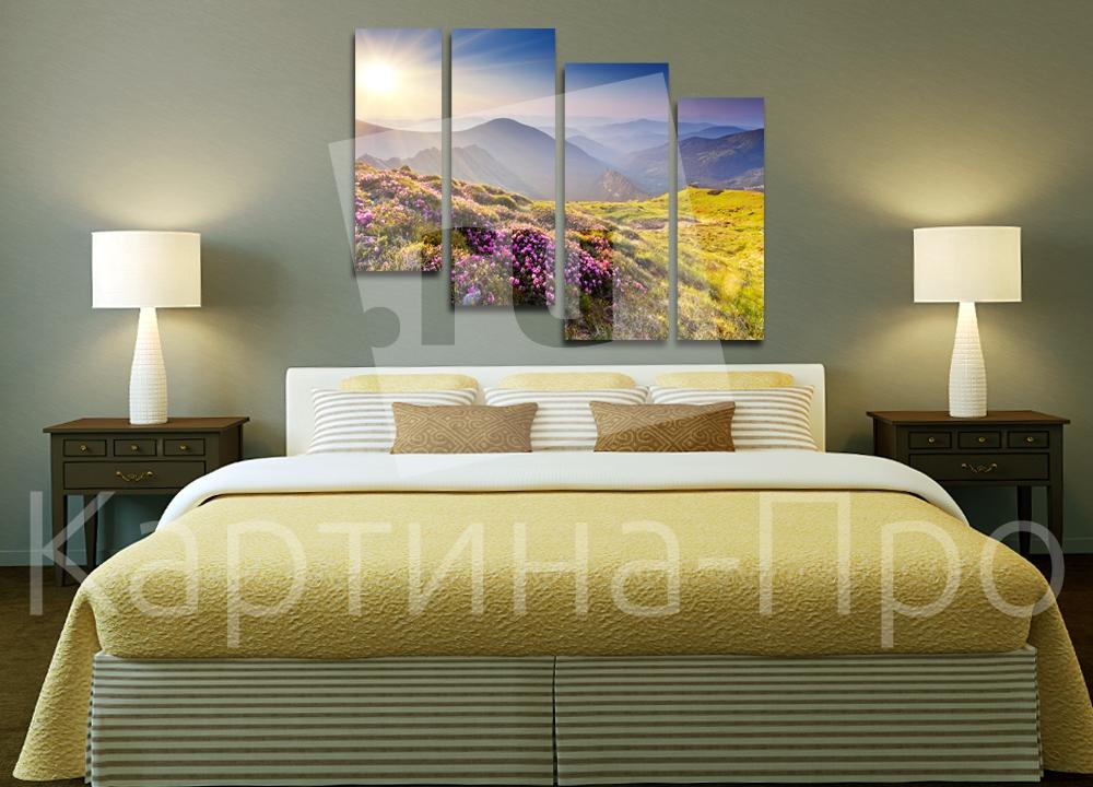 Модульная картина Закат в горах от Kartina-Pro