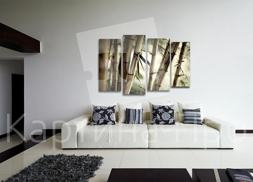 Модульная картина Бамбуковый лес от Kartina-Pro
