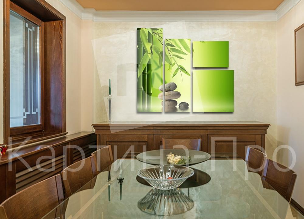 Модульная картина Бамбук и камень от Kartina-Pro