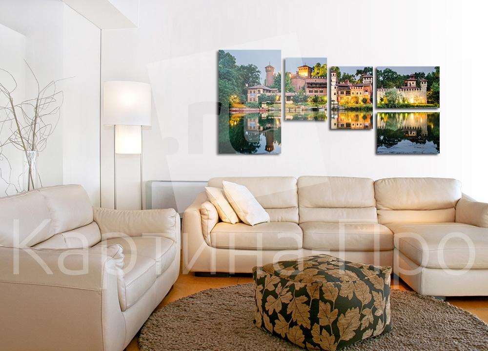 Модульная картина Замок в Турине (Италия) от Kartina-Pro