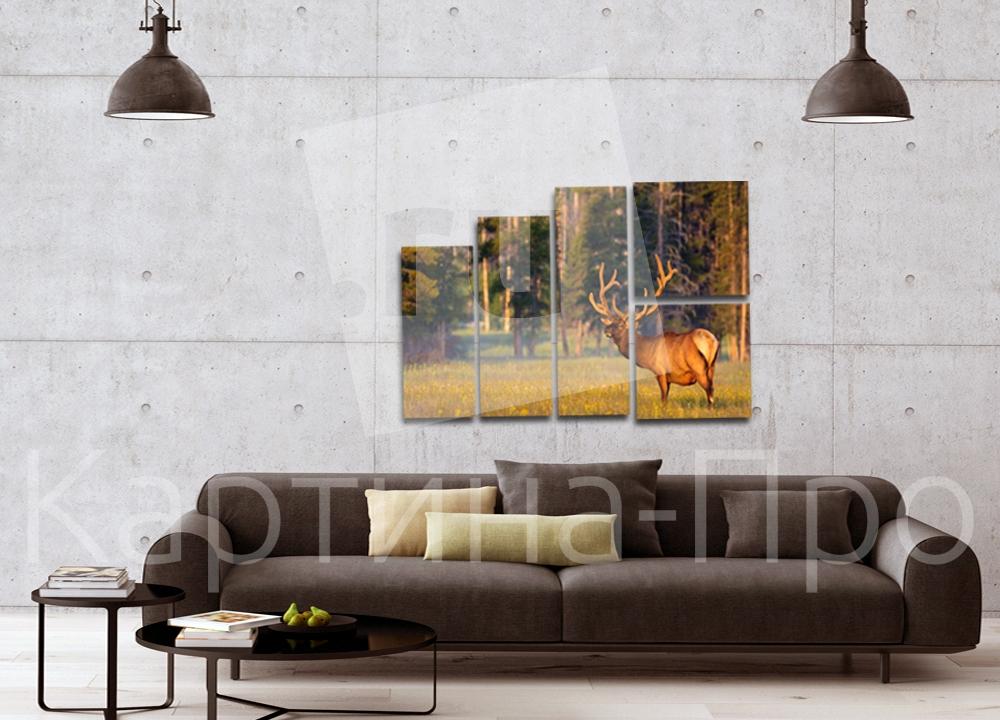 Модульная картина Лось на лесной поляне от Kartina-Pro