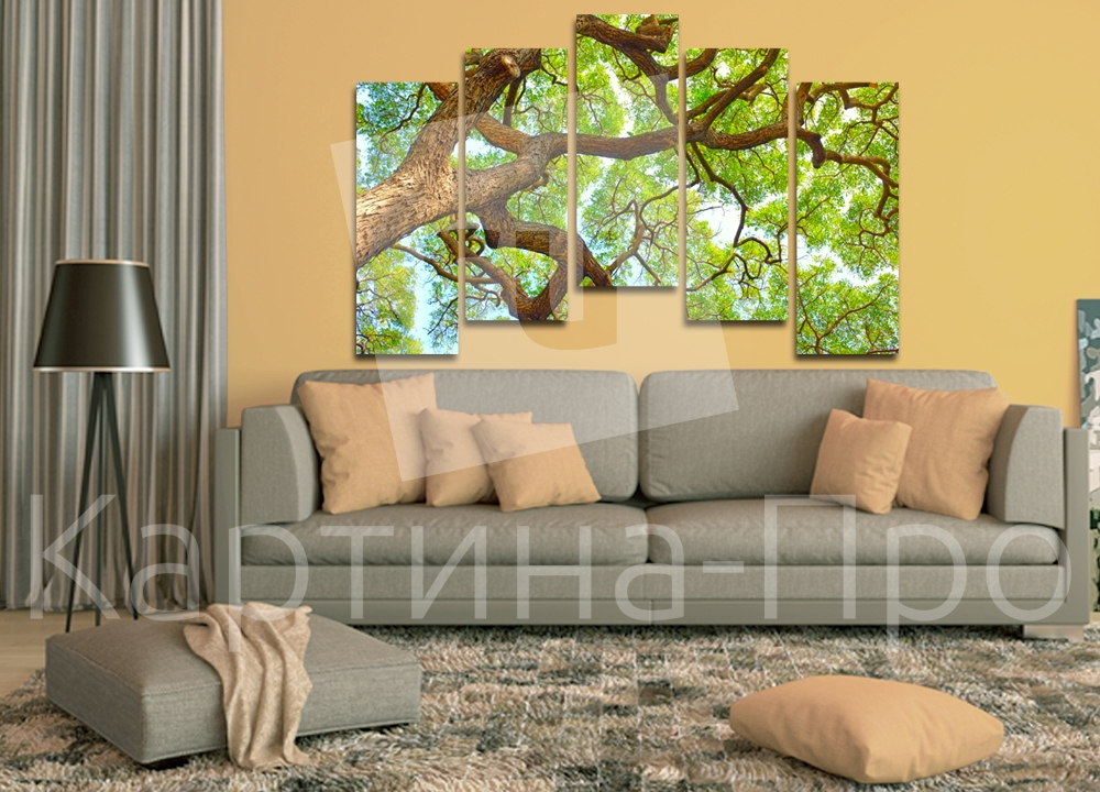 Модульная картина Ветви дерева на фоне неба от Kartina-Pro