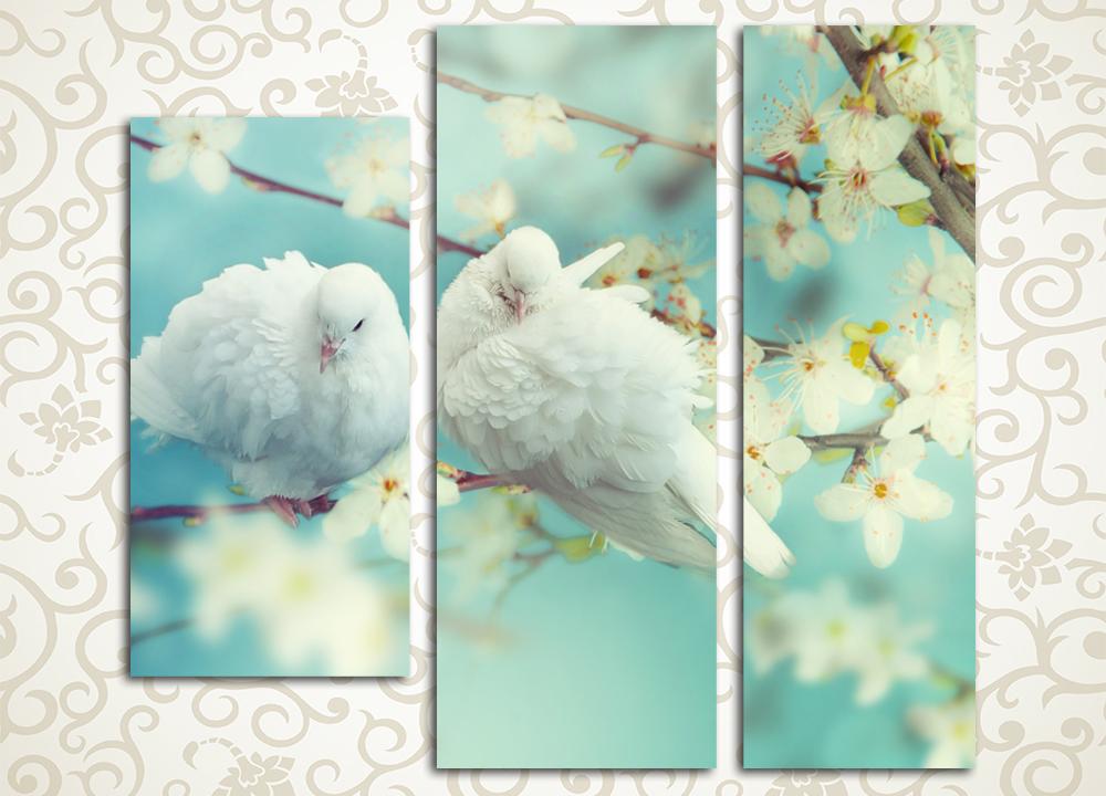 Модульная картина Прекрасная пара голубей