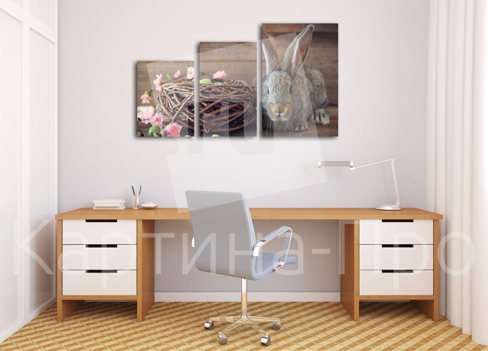 Модульная картина Кролик и гнездо от Kartina-Pro