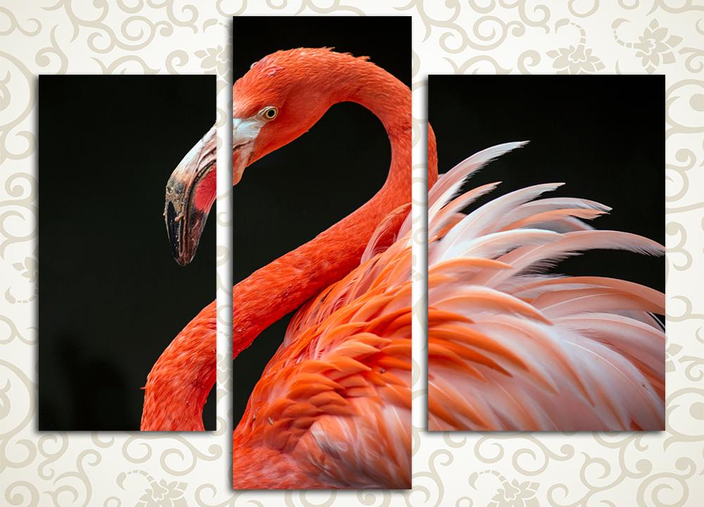 Модульная картина Розовый фламинго