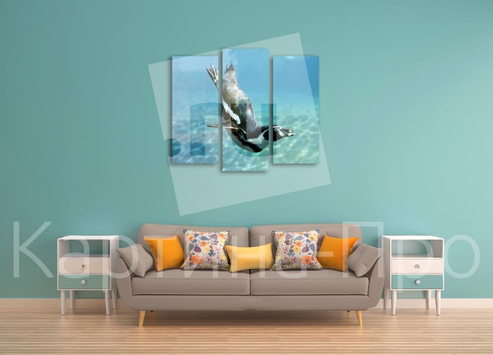 Модульная картина Пернатый ныряльщик от Kartina-Pro