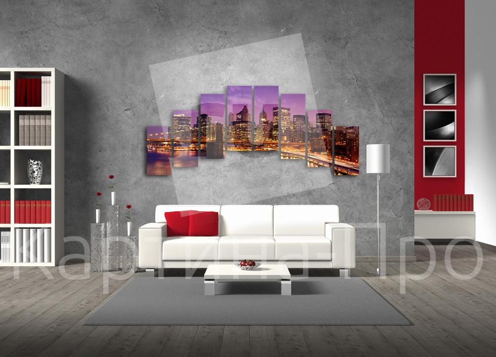 Модульная картина Ночной мегаполис от Kartina-Pro