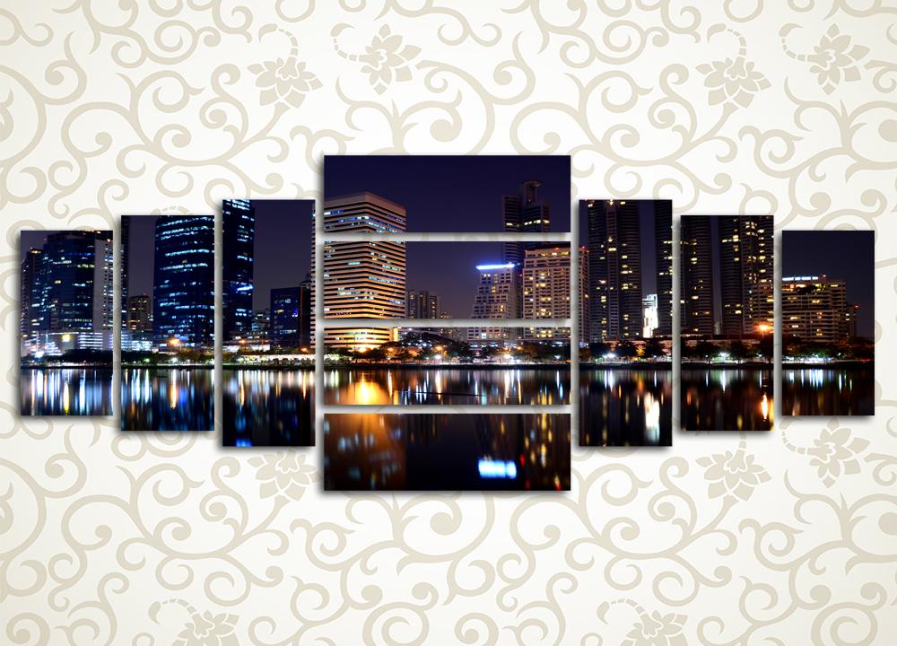 Модульная картина Ночные огни большого города