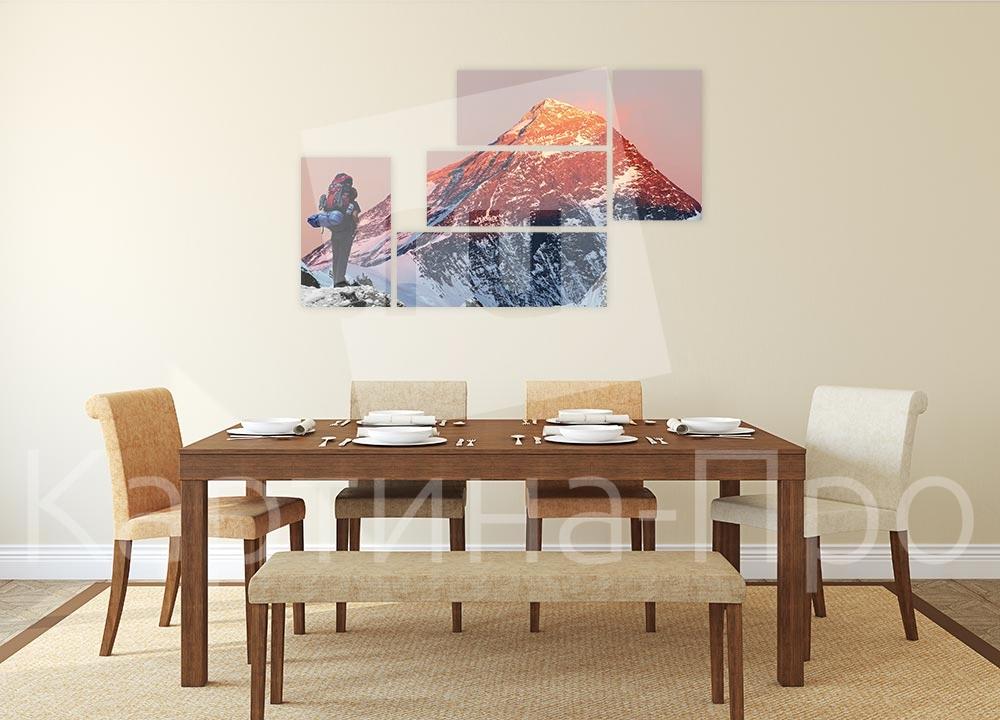 Модульная картина Покоритель Эвереста от Kartina-Pro
