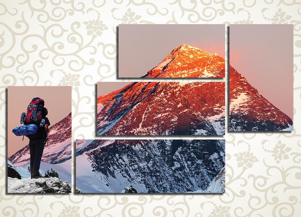 Модульная картина Покоритель Эвереста