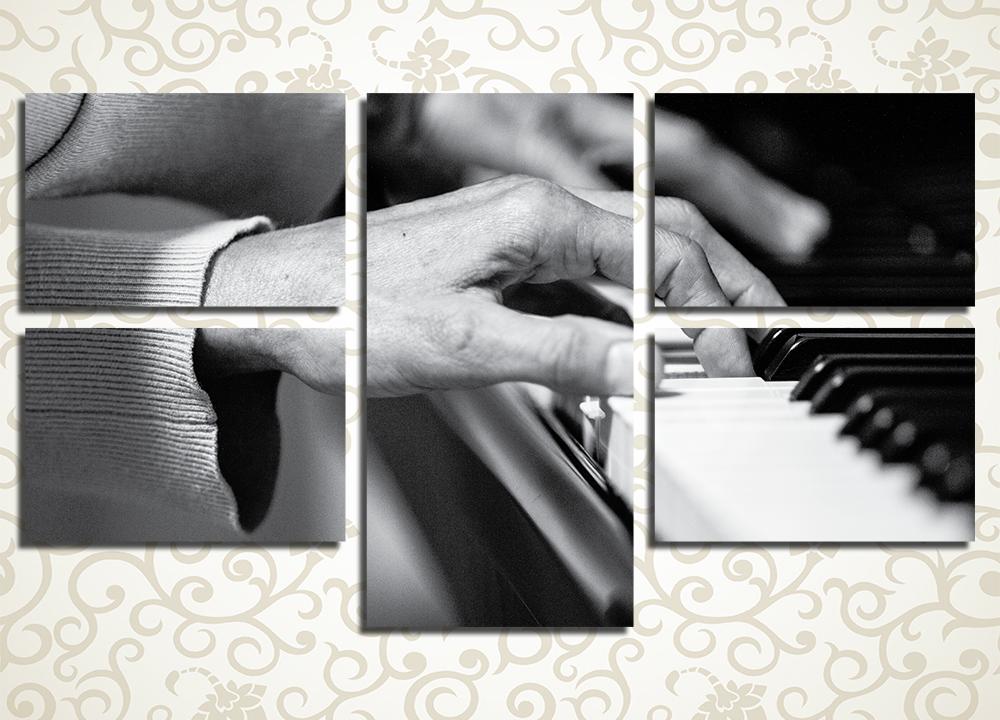 Модульная картина Пианист