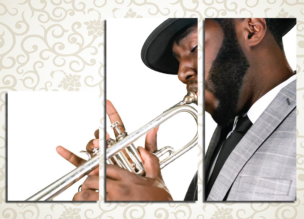 Модульная картина Джазовый трубач