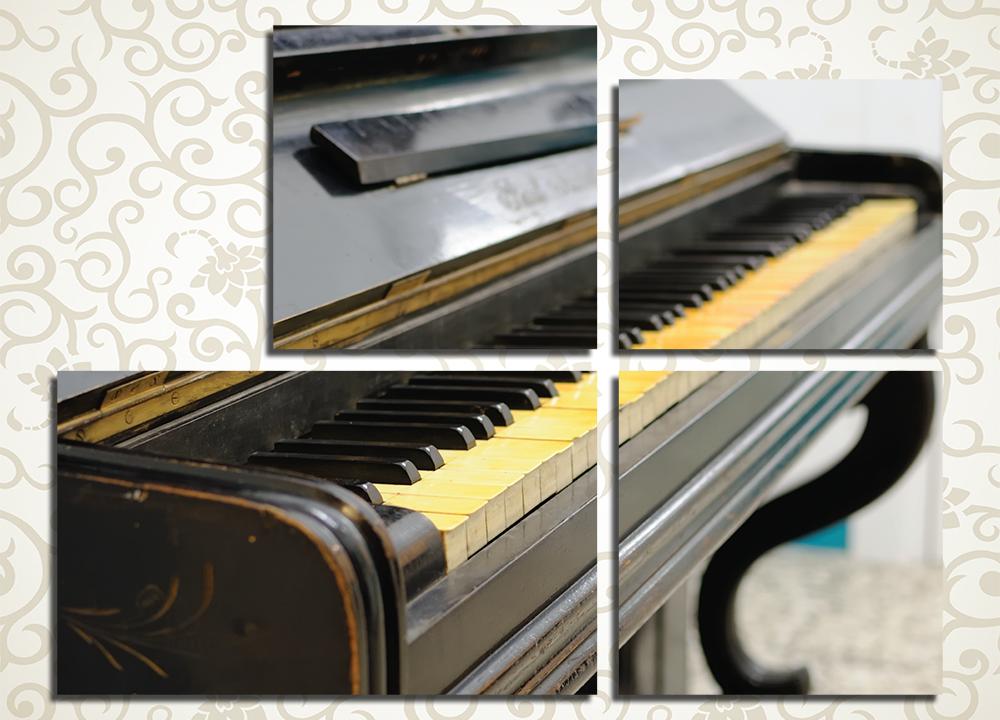 Модульная картина Винтажное пианино